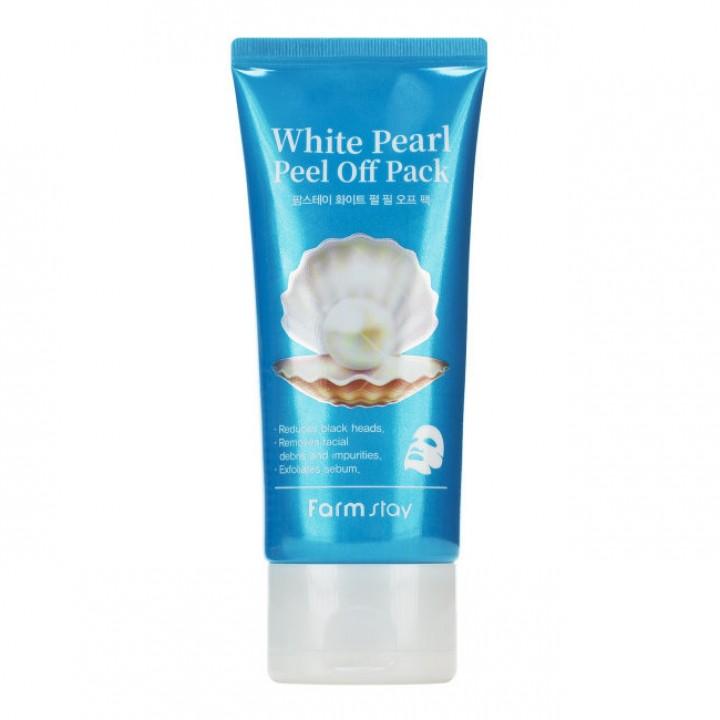 Farmstay Очищающая маска-пленка с экстрактом жемчуга White Pearl Peel Of Pack 100 мл