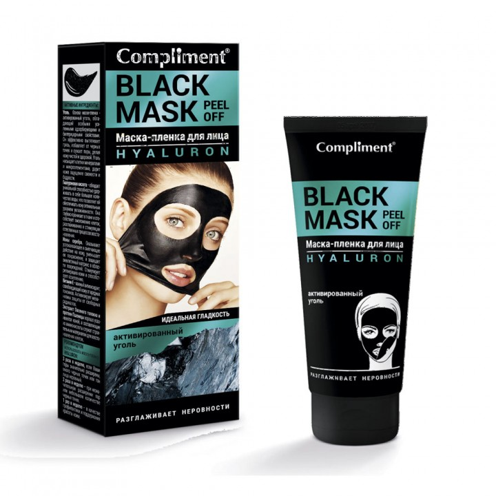 "Compliment Black Mask Маска-пленка для лица ""Hyaluron"" 80 мл"