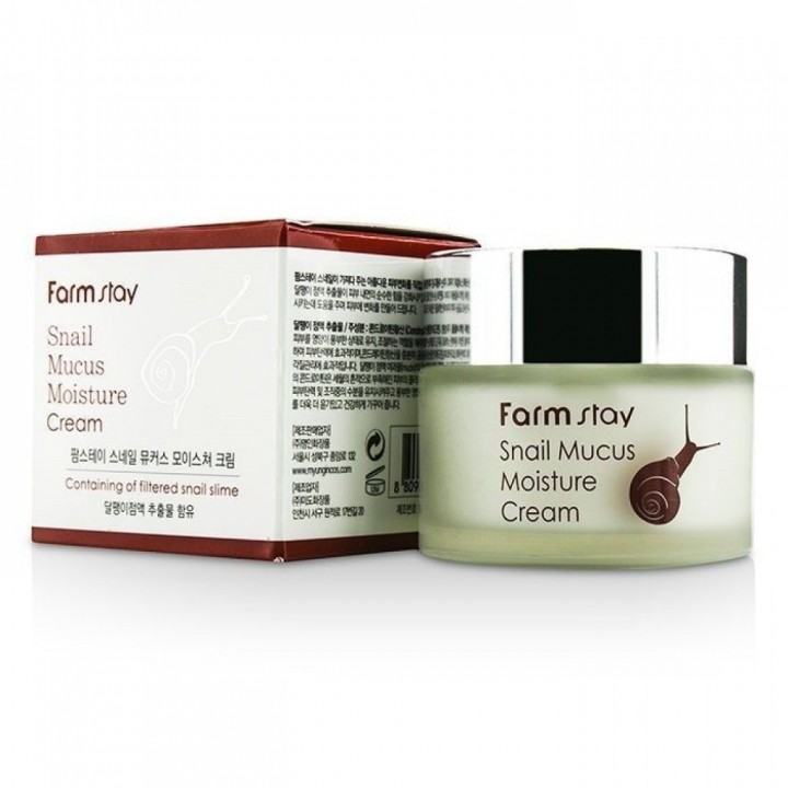 Farmstay Крем для лица увлажняющий с муцином улитки Snail Mucus Moisture Cream 50 г