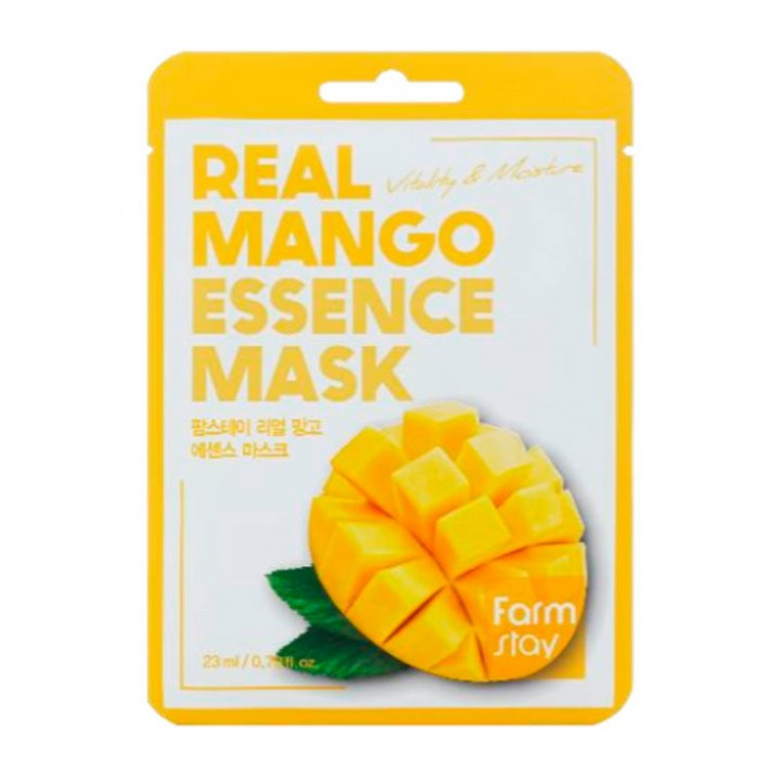 Farmstay Тканевая маска с экстрактом манго Real Mango Essence Mask 23 мл