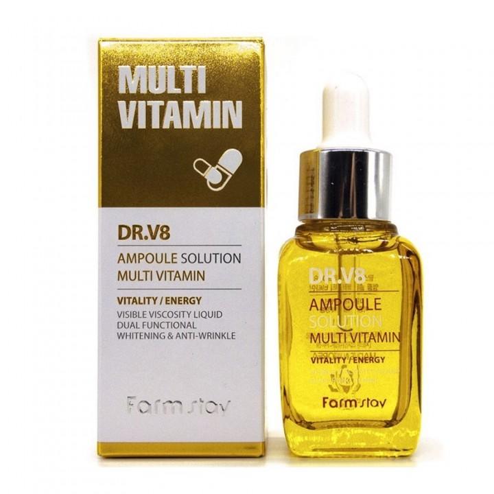 Farmstay Ампульная сыворотка для лица Мультивитамин DR.V8 Ampoule Solution Multivitamin 30 мл
