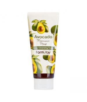 Farmstay Очищающая пенка с экстрактом авокадо Avocado Deep Cleansing Foam 180 мл