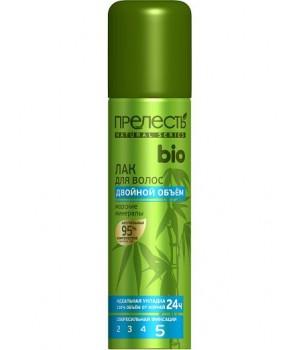 Прелесть Bio Лак для волос Двойной объём Морские минералы 160 мл