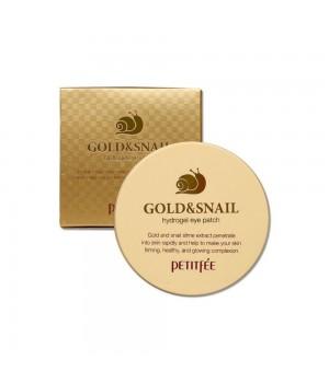 Petitfee Патчи для век гидрогелевые с золотом и улиткой Gold&Snail Hydrogel Eye Patch 60 шт