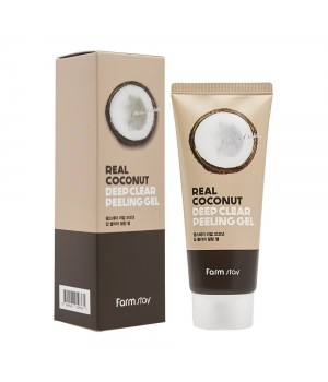 Farmstay Пилинг-гель с экстрактом кокоса Real Coconut Deep Clear Peeling Gel 100 мл