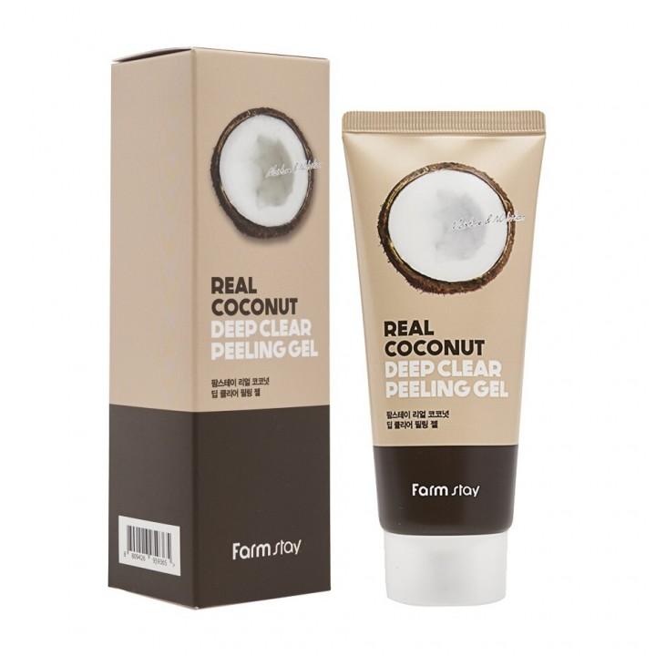 Farmstay Пилинг-гель с экстрактом кокоса Real Coconut Deep Clear Peeling Gel 100 мл