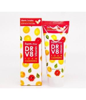 Farmstay Пенка для умывания витаминная DR-V8 Vitamin Foam Cleansing 100 мл