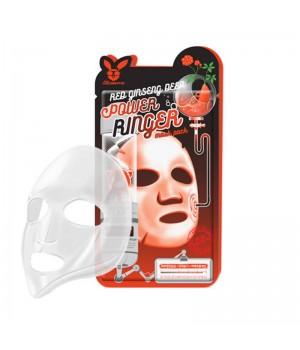 Elizavecca Маска для лица тканевая с красным женьшенем Red Ginseng Deep Power Ringer Mask Pack 23 мл