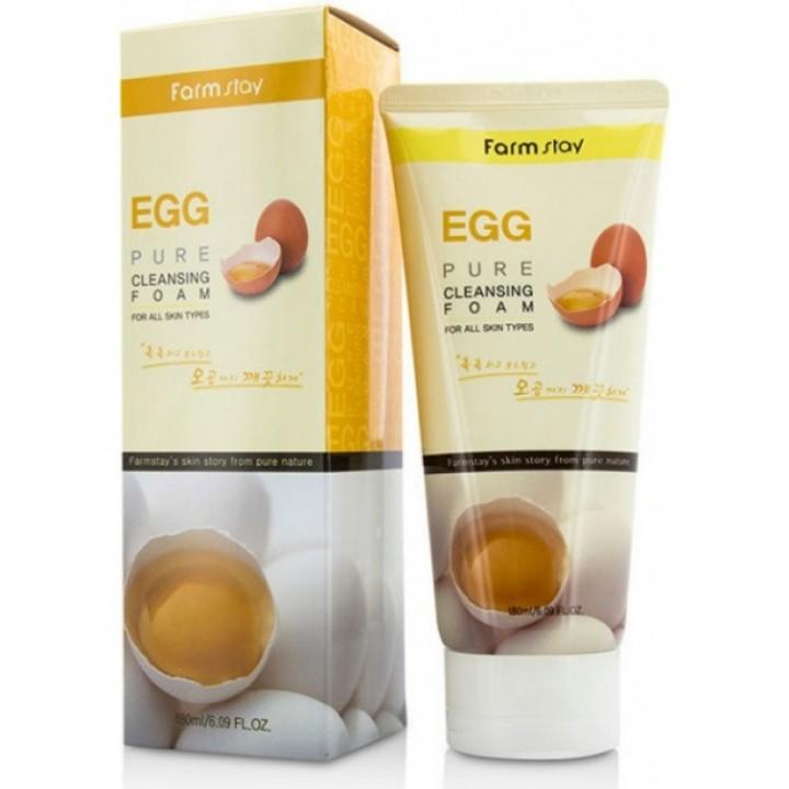 Farmstay Пенка для умывания с яйцом Egg Pure Cleansing Foam 180 мл