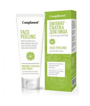 Тимекс Compliment Пилинг-скатка для лица с фруктовыми кислотами 80 мл