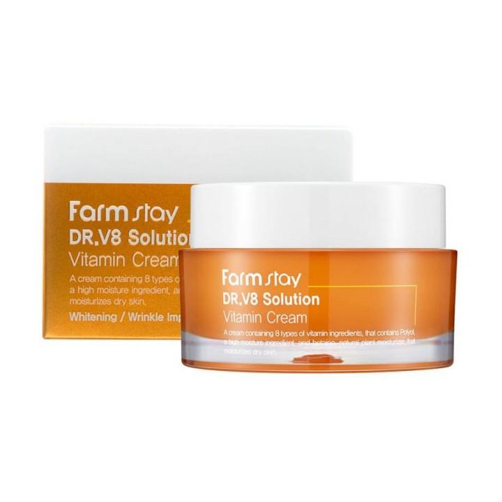 Farmstay DR.V8 Solution Крем для лица с витаминами 50 мл