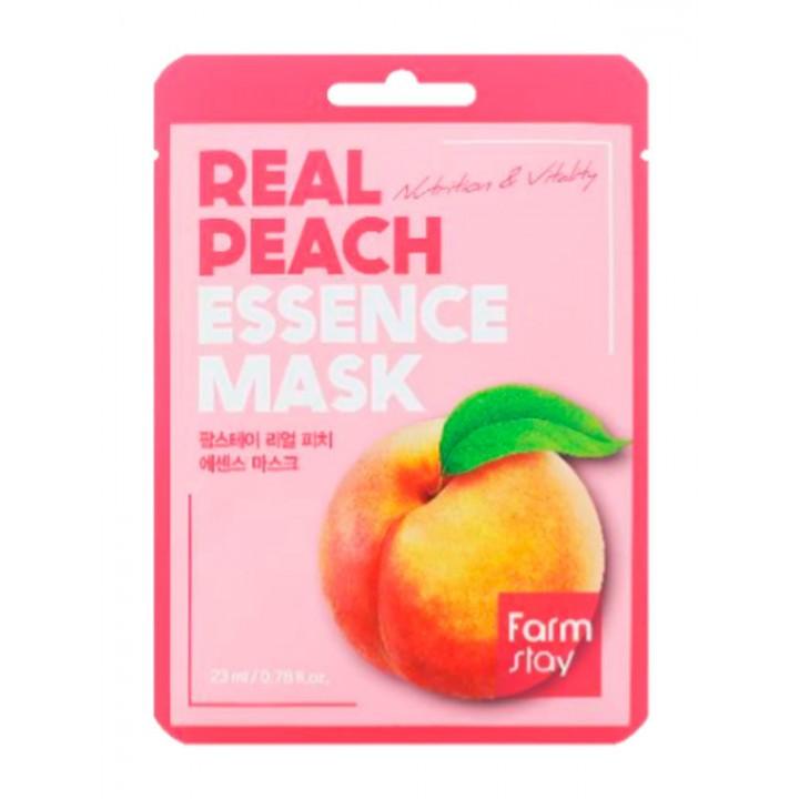 Farmstay Тканевая маска с экстрактом персика Real Peach Essence Mask 23 мл