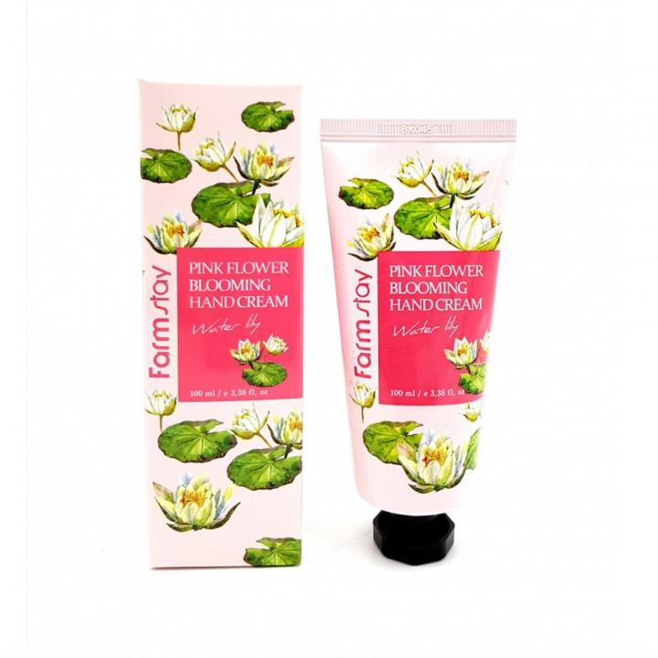 Farmstay Крем для рук с лилией Pink Flower Blooming Hand Cream Water Lily 100 мл