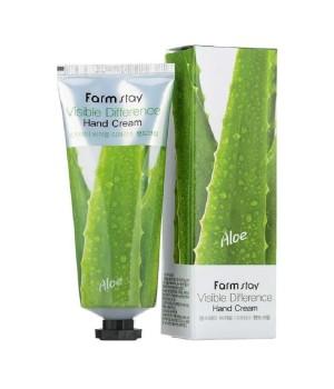 Farmstay Крем для рук с экстрактом алоэ Visible Difference Aloe Hand Cream 100 мл