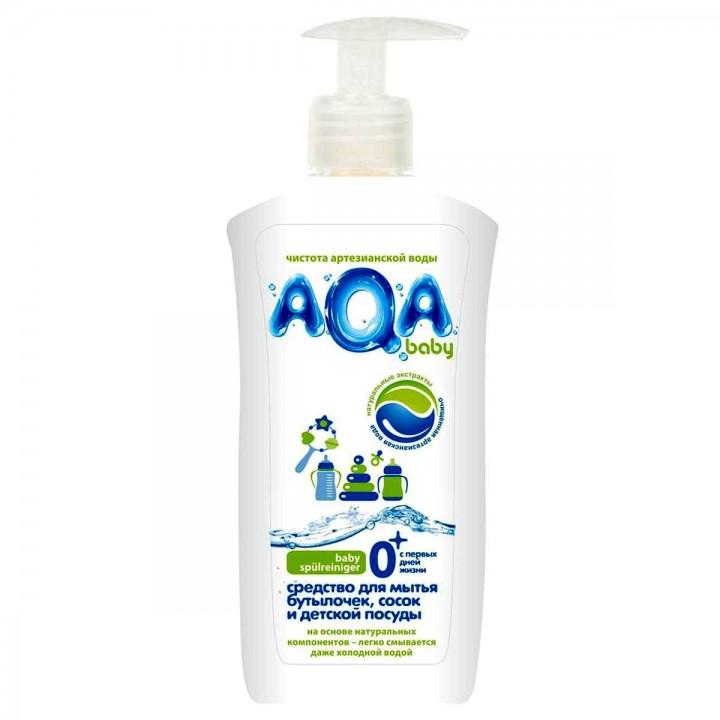AQA baby Средство для мытья бутылочек, сосок и детской посуды 500 мл