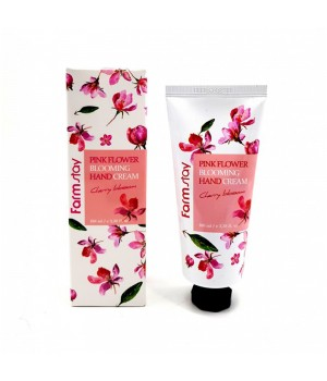 Farmstay Крем для рук с сакурой Pink Flower Blooming Hand Cream Cherry Blossom 100 мл