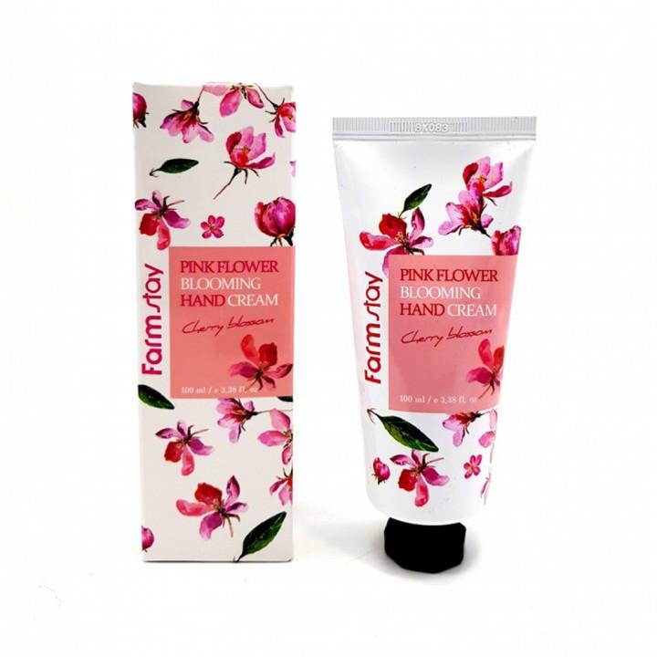 Farmstay Крем для рук с сакурой Pink Flower Blooming Hand Cream Cherry Blossom 100 мл