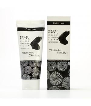 Farmstay Пенка для умывания с углем Charcoal Pure Cleansing Foam 180 мл