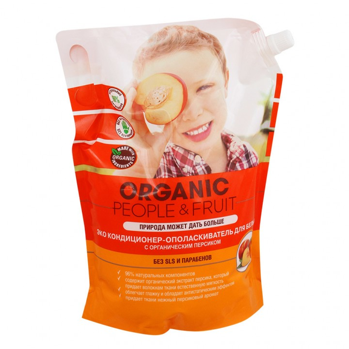 Organic People & Fruit Кондиционер-ополаскиватель для белья с органическим персиком 2000 мл
