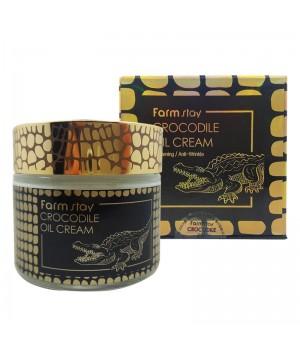Farmstay Крем для лица омолаживающий с жиром крокодила Crocodile Oil Cream 70 мл