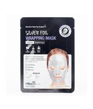 MBeauty Восстанавливающая серебряная фольгированная маска для лица с витамином С 25 мл