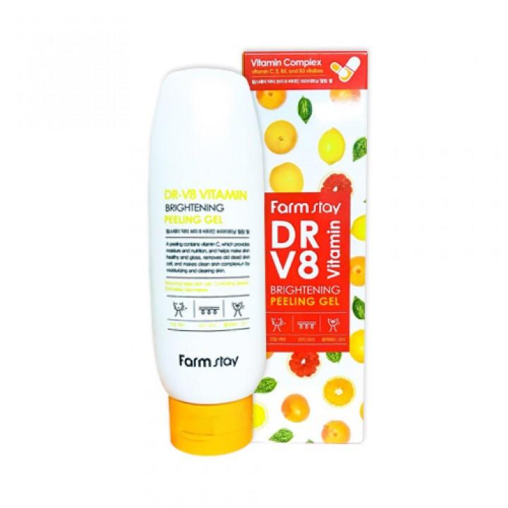 Farmstay Пилинг-гель для лица витаминный DR-V8 Vitamin Brightening Peeling Gel 150 мл