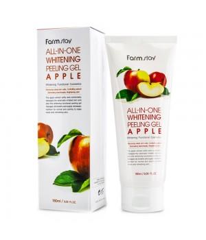 Farmstay Пилинг для лица осветляющий с экстрактом яблока All-In-One Whitening Peeling Gel Apple180 мл