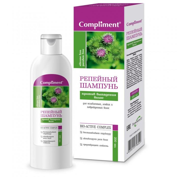 Compliment Репейный шампунь против выпадения волос 200мл