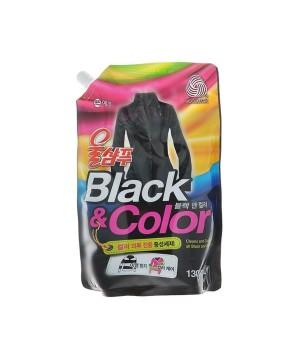"""Wool Shampoo Жидкое средство для стирки """"Черное и цветное"""" 1300 мл (запаска)"""
