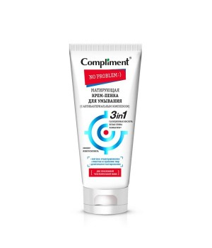 Compliment No problem Матирующая крем-пенка для умывания с антибактериальным комплексом 165 мл