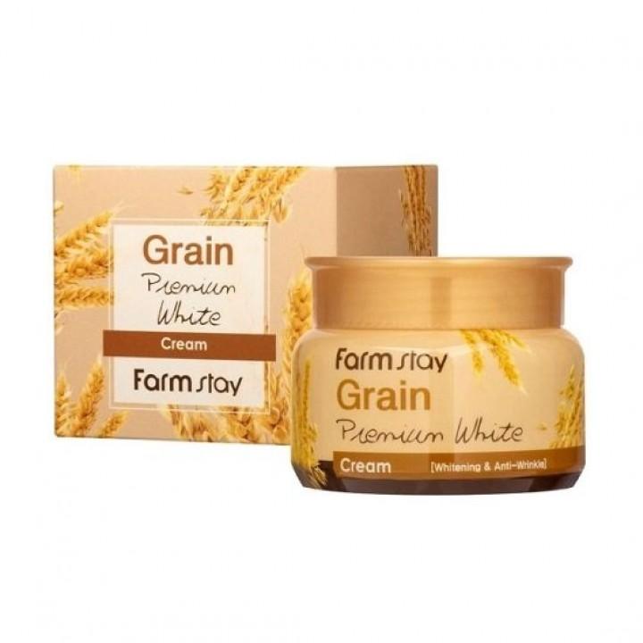 Farmstay Осветляющий крем с маслом ростков пшеницы Grain Premium White Cream 100 мл
