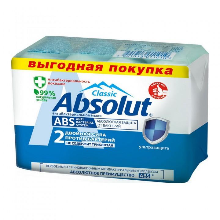 "Absolut Мыло туалетное антибактериальное ""Absolut ABS"" ультразащита 300 г"