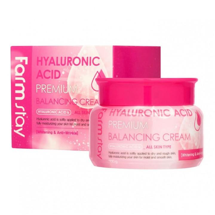 Farmstay Подтягивающий и увлажняющий крем с гиалуроновой кислотой Hyaluronic Premium Balancing Cream 100 мл