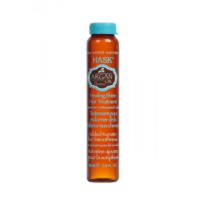 Hask Лечебное средство для придания блеска волосам с аргановым маслом 18 мл