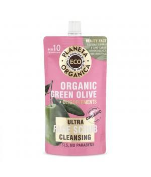 """Planeta Organica Eco Очищающий скраб для лица """"Organic green olive"""" 100 мл"""
