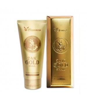 Elizavecca Пенка для умывания с золотом и муцином улитки 24K Gold Snail Cleansing Foam 180 мл